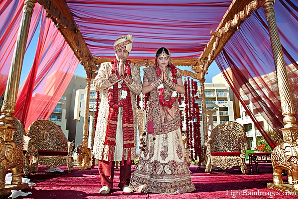 Indian wedding ceremony mandap decor in Phoenix, Arizona Indian Wedding by LightRain Images