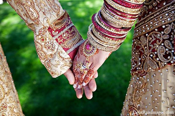 Indian wedding groom bride portraits in Phoenix, Arizona Indian Wedding by LightRain Images