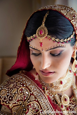 Indian wedding makeup bride fashion in Phoenix, Arizona Indian Wedding by LightRain Images