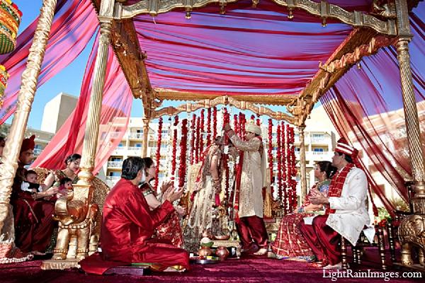 Indian wedding mandap ceremony decor in Phoenix, Arizona Indian Wedding by LightRain Images
