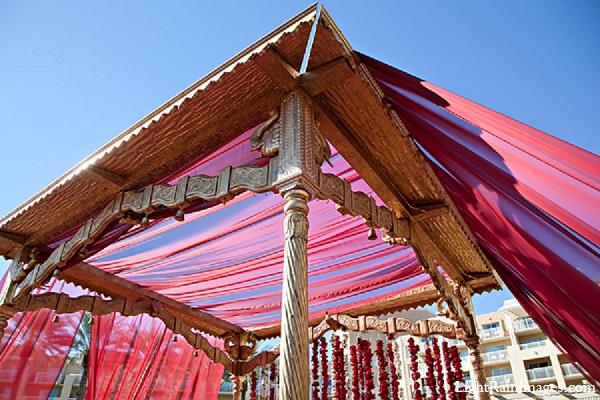 Indian wedding mandap outdoor venue in Phoenix, Arizona Indian Wedding by LightRain Images