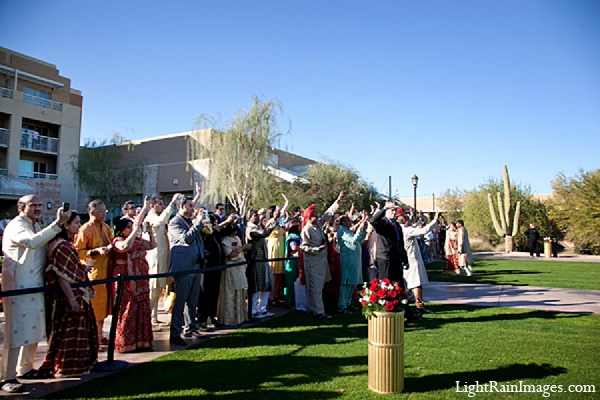 Indian wedding photography venue guests in Phoenix, Arizona Indian Wedding by LightRain Images