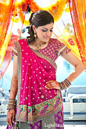 Indian wedding puja fashion bride in Phoenix, Arizona Indian Wedding by LightRain Images