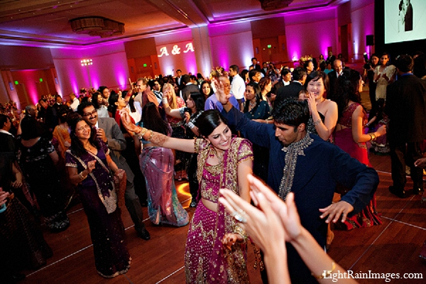 Indian wedding reception bride groom in Phoenix, Arizona Indian Wedding by LightRain Images