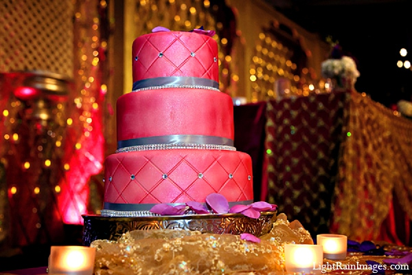 Indian wedding reception cake decor in Phoenix, Arizona Indian Wedding by LightRain Images