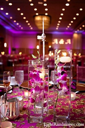 Indian wedding reception decor floral photography in Phoenix, Arizona Indian Wedding by LightRain Images