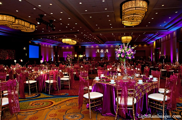 Indian-wedding-reception-decor-floral in Phoenix, Arizona Indian Wedding by LightRain Images