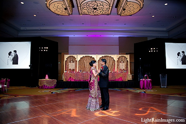 Indian wedding reception groom bride in Phoenix, Arizona Indian Wedding by LightRain Images
