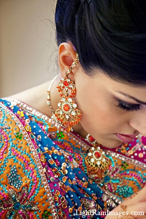 orange,hot pink,blue,indian bridal fashions,indian bridal jewelry,indian bridal hair and makeup,indian wedding portraits,indian wedding makeup,indian bride makeup,lightrain images