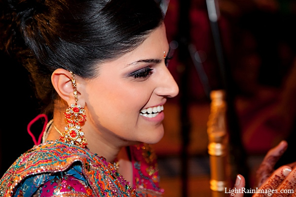 Indian wedding sangeet bride photography in Phoenix, Arizona Indian Wedding by LightRain Images