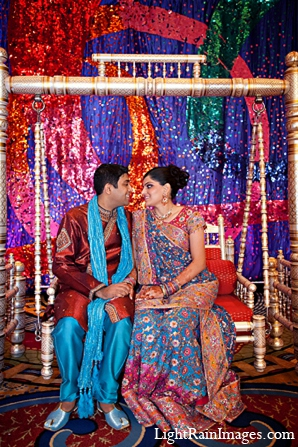 Indian-wedding-sangeet-grom-bride in Phoenix, Arizona Indian Wedding by LightRain Images