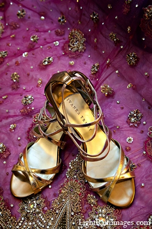 Indian wedding shoes bridal attire in Phoenix, Arizona Indian Wedding by LightRain Images