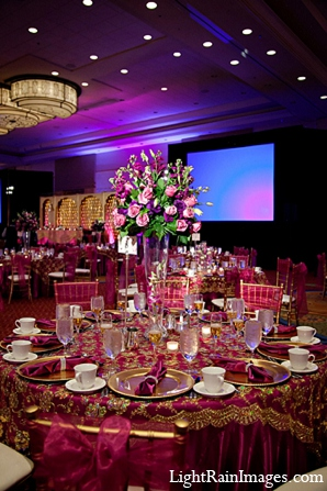 Indian wedding venue reception decor in Phoenix, Arizona Indian Wedding by LightRain Images