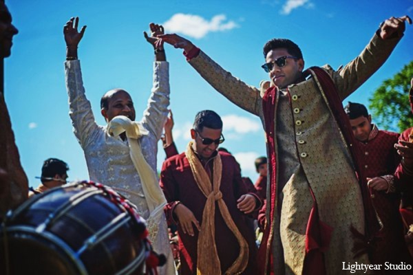 red,gold,cream,white,Baraat,traditional indian wedding,indian wedding traditions,Lightyear Studio