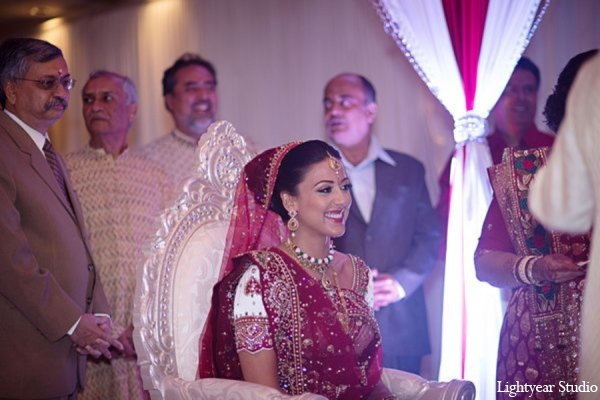 Indian wedding ceremony bride in Parsippany, New Jersey Indian Wedding by Lightyear Studio