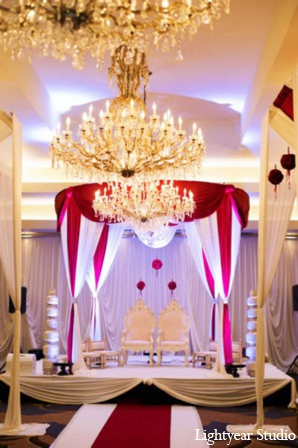 Indian wedding ceremony decor in Parsippany, New Jersey Indian Wedding by Lightyear Studio