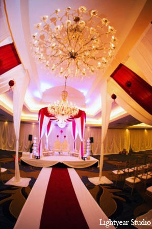 Indian wedding mandap in Parsippany, New Jersey Indian Wedding by Lightyear Studio
