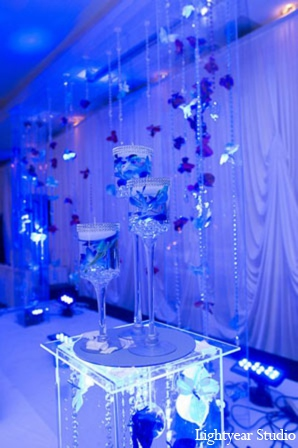 Indian wedding reception decor in Parsippany, New Jersey Indian Wedding by Lightyear Studio