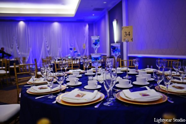 Indian wedding reception design in Parsippany, New Jersey Indian Wedding by Lightyear Studio