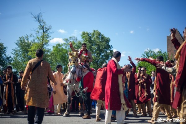 Indian wedding traditional baraat in Parsippany, New Jersey Indian Wedding by Lightyear Studio
