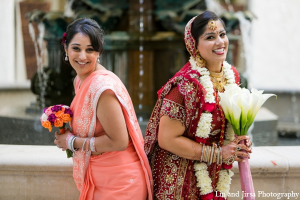 Indian wedding bridal bouquet in Newport Beach, CA Indian Wedding by Lin and Jirsa Photography