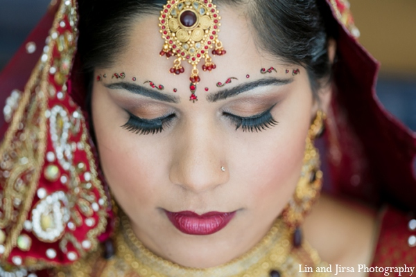 Indian wedding bridal hair makeup in Newport Beach, CA Indian Wedding by Lin and Jirsa Photography