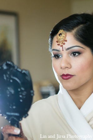Indian wedding bridal makeup in Newport Beach, CA Indian Wedding by Lin and Jirsa Photography