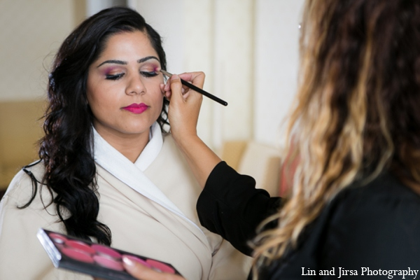 Indian wedding bridal prep in Newport Beach, CA Indian Wedding by Lin and Jirsa Photography