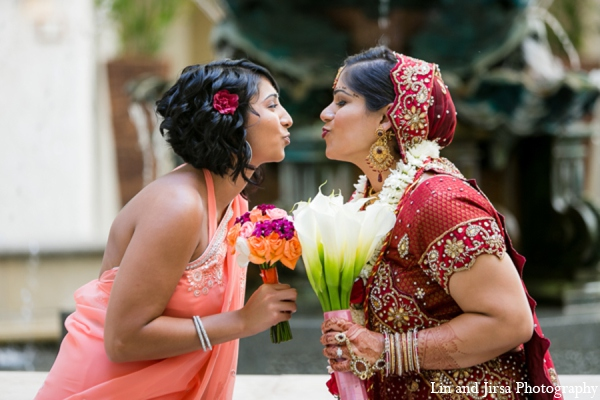 Indian wedding bride bouquet in Newport Beach, CA Indian Wedding by Lin and Jirsa Photography