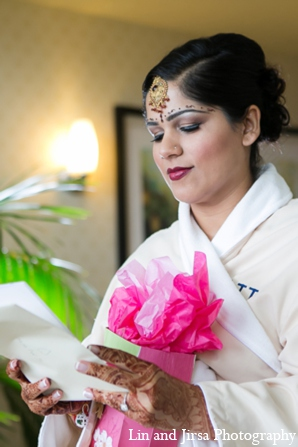 Indian wedding bride hair accessories in Newport Beach, CA Indian Wedding by Lin and Jirsa Photography