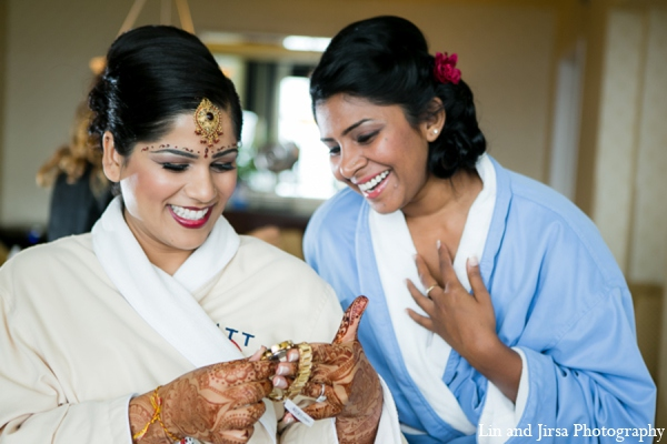 Indian wedding bride mehndi in Newport Beach, CA Indian Wedding by Lin and Jirsa Photography