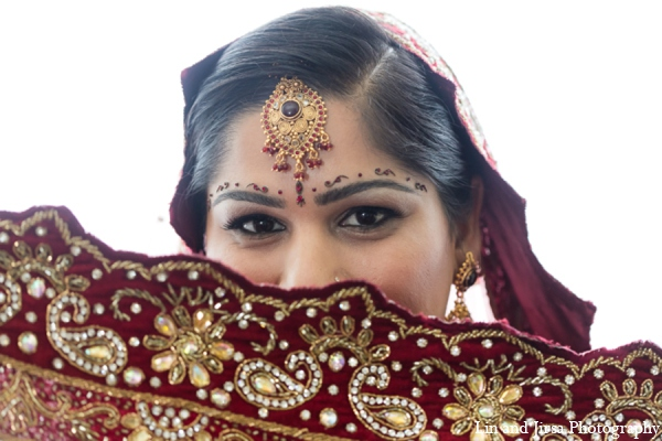 Indian wedding bride portrait in Newport Beach, CA Indian Wedding by Lin and Jirsa Photography