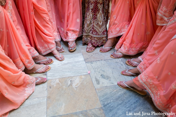Indian wedding bridesmaids in Newport Beach, CA Indian Wedding by Lin and Jirsa Photography