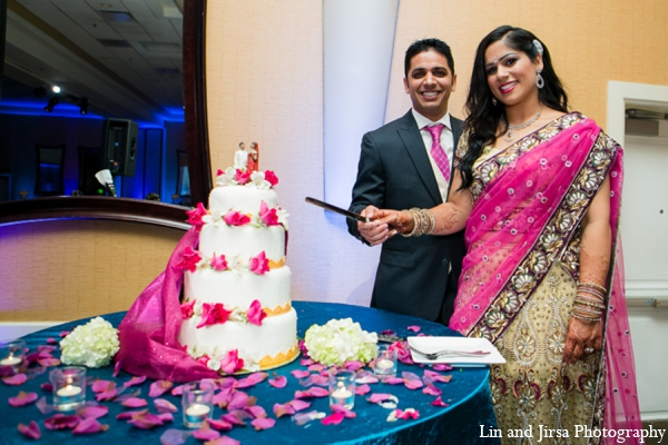 Featured Indian Weddings,red,purple,gold,hot pink,white,yellow,blue,cakes and treats,indian wedding decor,indian wedding decorations,Lin and Jirsa Photography