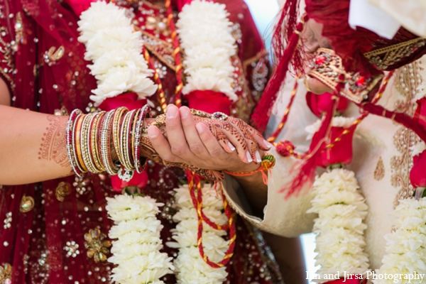 Indian wedding ceremony bride groom in Newport Beach, CA Indian Wedding by Lin and Jirsa Photography
