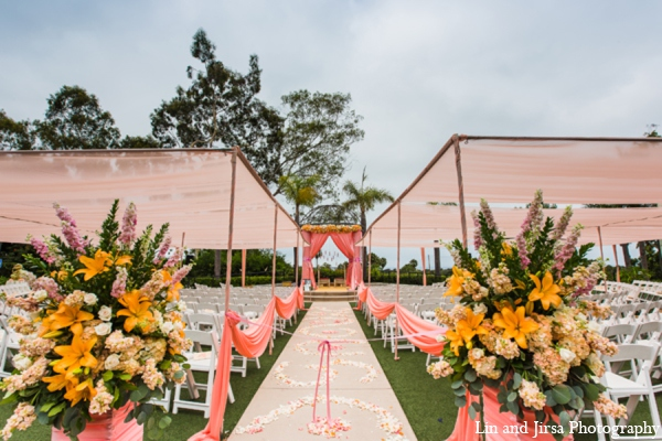 orange,white,yellow,green,baby pink,pale orange,Floral & Decor,Photography,Planning & Design,Venues,ceremony,mandap,traditional indian wedding,indian wedding traditions,Lin and Jirsa Photography