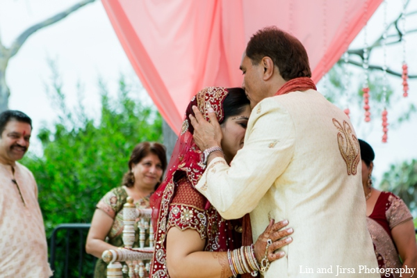 Indian wedding ceremony mandap in Newport Beach, CA Indian Wedding by Lin and Jirsa Photography