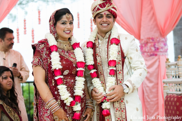 Indian wedding ceremony outfits in Newport Beach, CA Indian Wedding by Lin and Jirsa Photography
