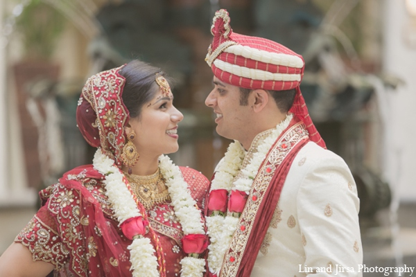 Indian wedding floral ceremony in Newport Beach, CA Indian Wedding by Lin and Jirsa Photography