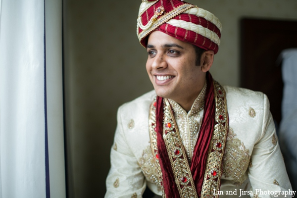Indian wedding groom outfits in Newport Beach, CA Indian Wedding by Lin and Jirsa Photography