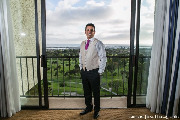 Indian wedding groom in Newport Beach, CA Indian Wedding by Lin and Jirsa Photography