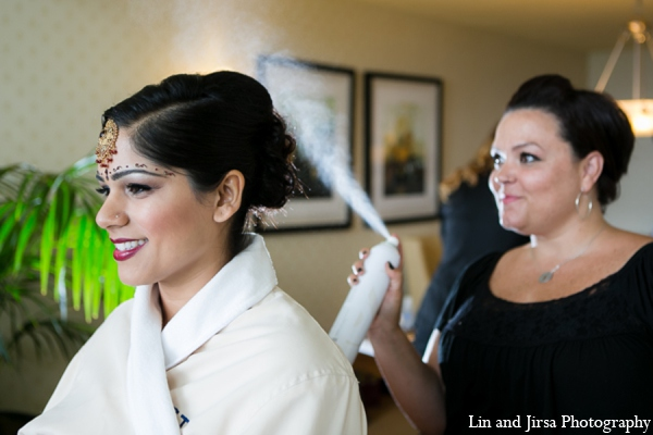 Indian wedding hair in Newport Beach, CA Indian Wedding by Lin and Jirsa Photography