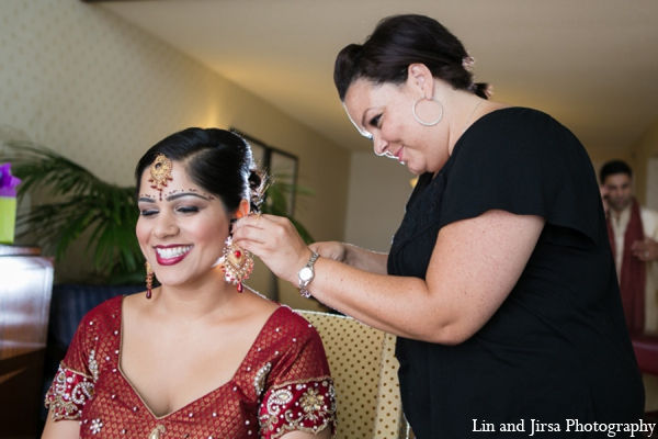 red,gold,Hair & Makeup,indian wedding makeup,indian bridal makeup,indian bride makeup,Lin and Jirsa Photography