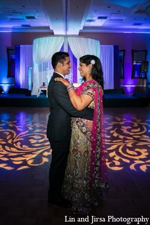 Indian wedding lighting reception in Newport Beach, CA Indian Wedding by Lin and Jirsa Photography
