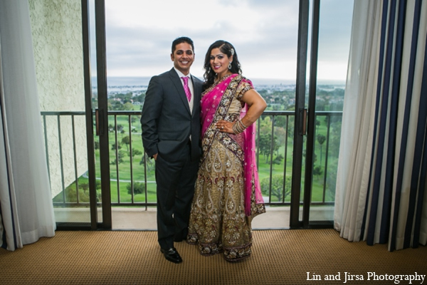 Indian wedding portrait in Newport Beach, CA Indian Wedding by Lin and Jirsa Photography