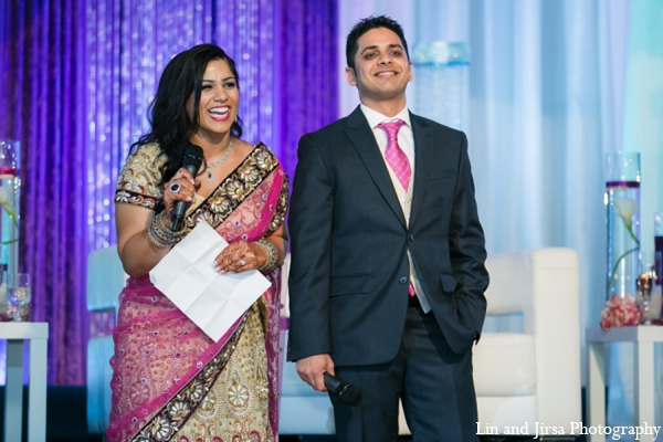 Indian wedding reception bride groom in Newport Beach, CA Indian Wedding by Lin and Jirsa Photography