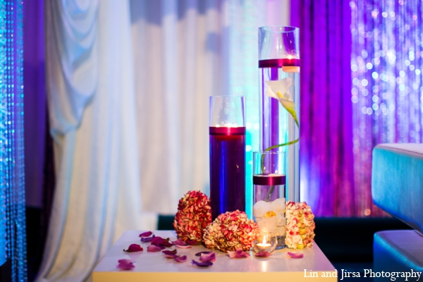 Indian wedding reception centerpiece in Newport Beach, CA Indian Wedding by Lin and Jirsa Photography