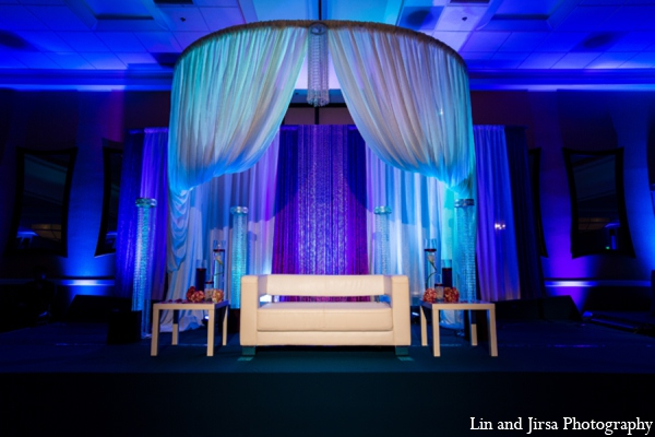 purple,white,light blue,blue,Lighting,indian wedding decor,indian wedding decorations,Lin and Jirsa Photography