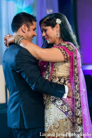 Indian wedding reception lehenga in Newport Beach, CA Indian Wedding by Lin and Jirsa Photography