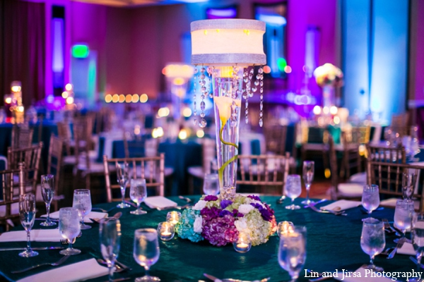 Indian wedding reception lighting in Newport Beach, CA Indian Wedding by Lin and Jirsa Photography